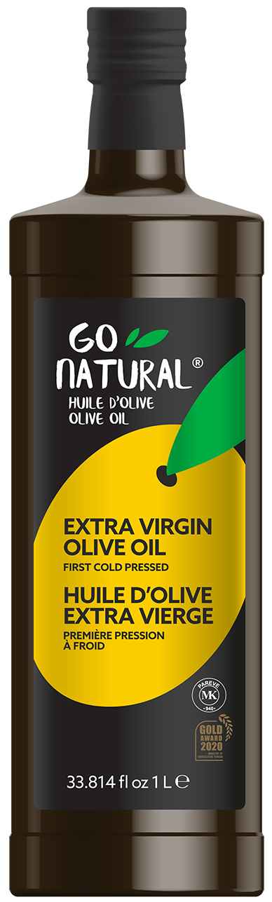 Go Natural – Huile d'olive 100 % extra vierge